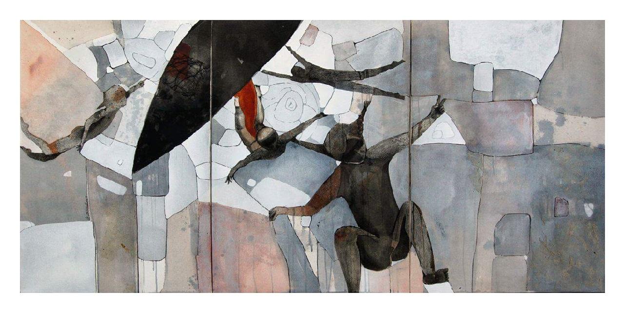 لوحة من أعمال الفنانة التشكيلية السورية ريم يسوف