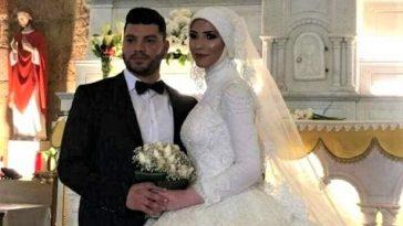 عروس محجبة في كنيسة
