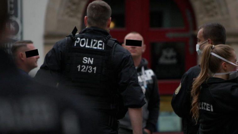 الاعتداء على الشرطة الألمانية في مظاهرة في بيرنا