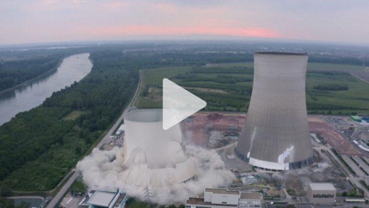 أخبار ألمانيا: لحظة تفجير محطة طاقة نووية في ألمانيا