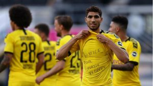 اللاعب المغربي أشرف حكيمي يتضامن مع الأمريكي جورج فلويد