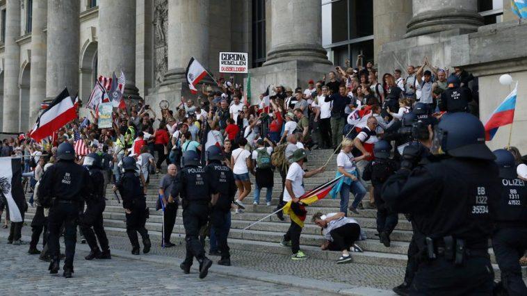 أعمال عنف أمام مبنى البرلمان الألماني والسفارة الروسية في برلين