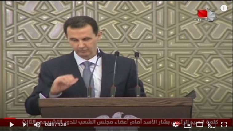 بشار الأسد أمام مجلس الشعب