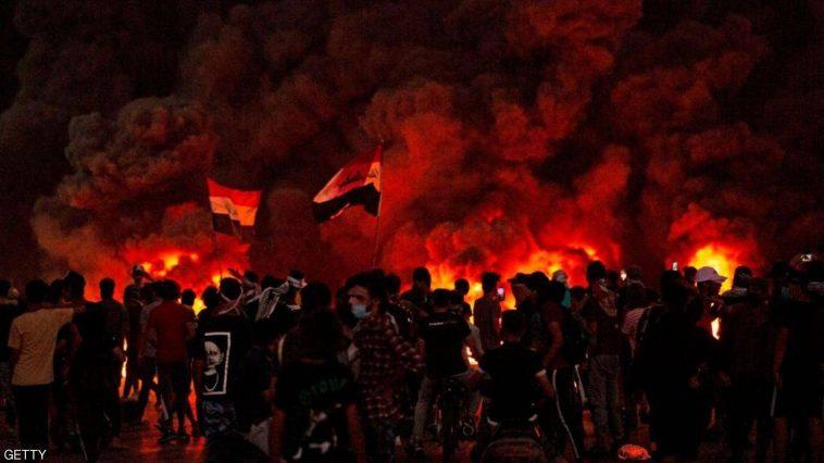 إحراق مكتب مجلس النواب في البصرة