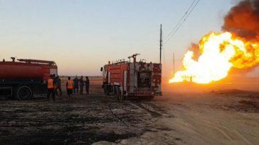 انفجار خط الغاز في سوريا