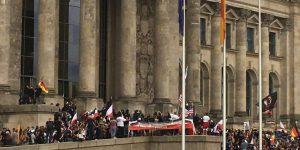 محاولة اقتحام مبنى البرلمان الألماني في برلين