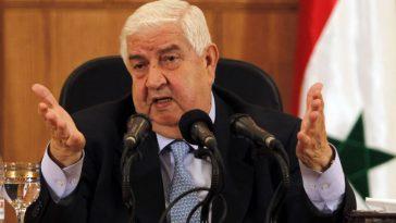 وفاة وليد المعلم وزير خارجية النظام السوري