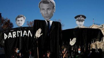 """ماكرون في مأزق.. أزمة سياسية في فرنسا بسبب قانون """"الأمن الشامل"""" المثير للجدل"""