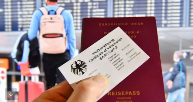 شهادات لقاح كورونا في الاتحاد الأوروبي