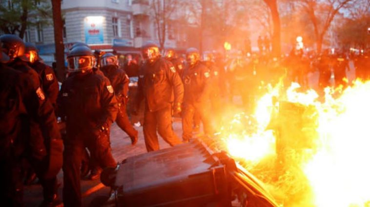 أعمال شغب في برلين في عيد العمال