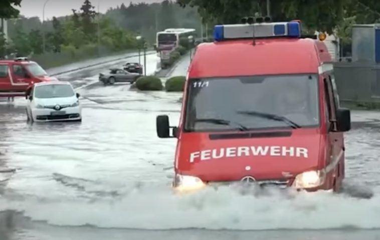 حالة الطقس في ألمانيا الأمطار