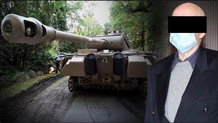 دبابة في القبو