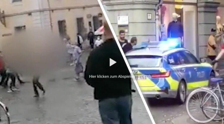 أول مقاطع الفيديو للهجوم بسكين في ألمانيا