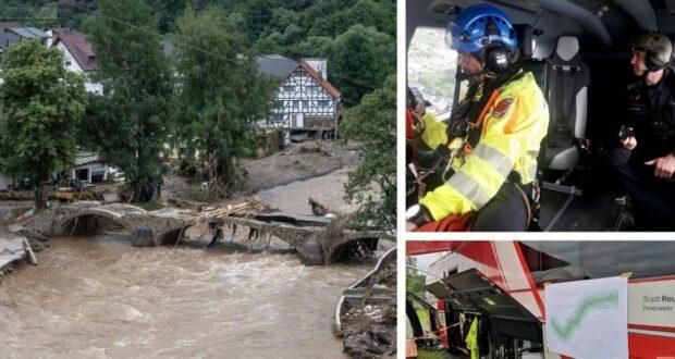 الطوارئ في مناطق الفيضانات ألمانيا