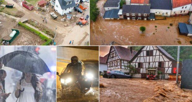 فيضانات في ألمانيا جراء العواصف عنيفة والأمطار الغزيرة
