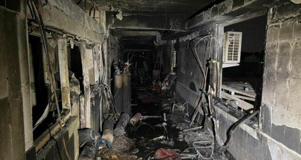حريق مستشفى الناصرية في العراق
