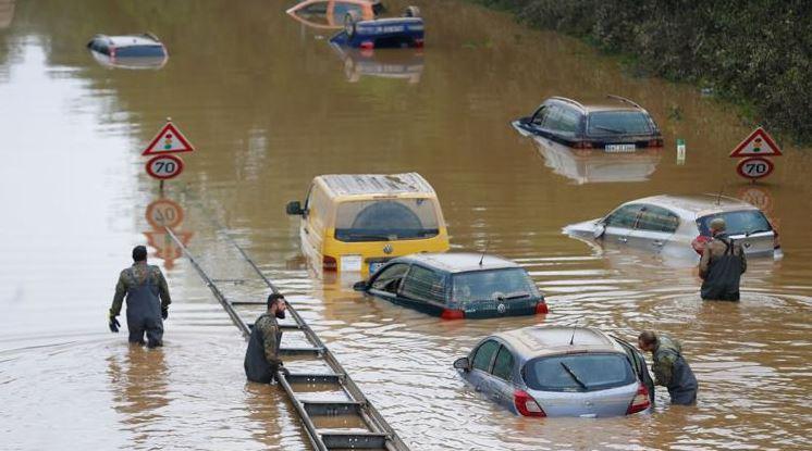 الفيضانات في ألمانيا الطرق