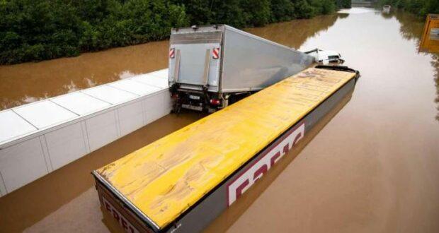 الفيضانات الطرق ألمانيا