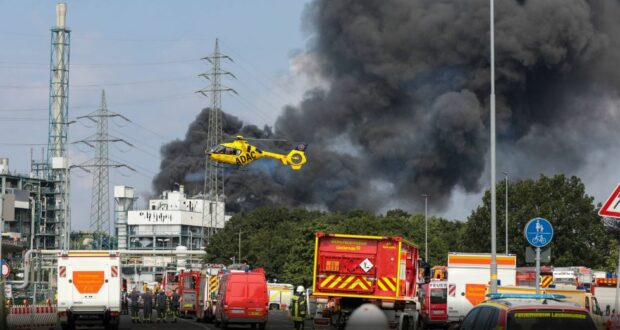 انفجار ليفركوزن ألمانيا