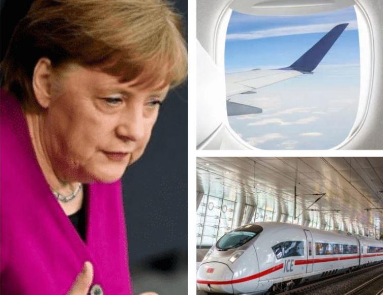 """ألمانيا: ميركل تعتزم تطبيق قاعدة """"3G"""" في القطارات والرحلات الجوية الداخلية"""