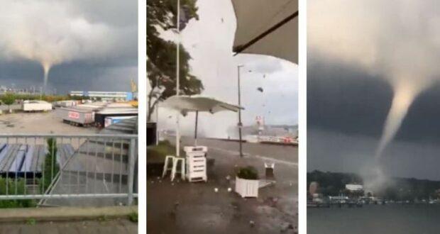 ألمانيا إعصار يضرب مدينة كيل