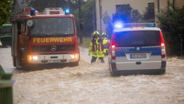 عواصف رعدية وأمطار غزيرة في ألمانيا